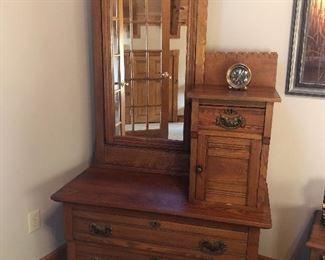 Antique dressing cabinet