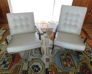 Pair of stunning Moreddi teak lounge chairs, Mid Century Modern at it's best! Sure to be the accent in any room!