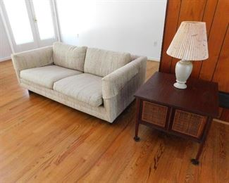MCM sofa , love seat and end tables.
