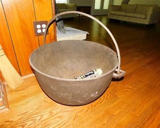 Wrought iron cauldron /  pot