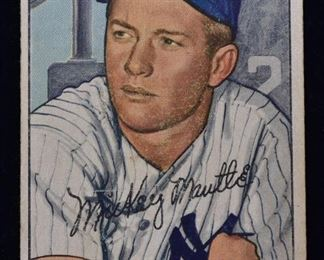 selection of baseball cards including Mantle, 1933 Goudey Ruth, selection of 1954 Topps including Aaron