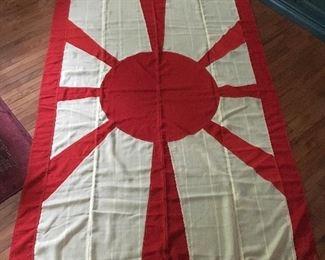 Rare WWII Japanese Admirals Flag, 8'8 x 5'7