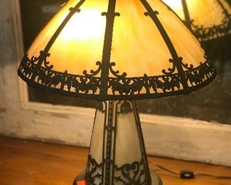 1920's Slag glass lamp.