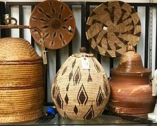 African baskets with certificates