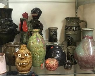 American pottery   Marvin Bailey, Charlie West, Huey and Anne Wheeler, Judy Touchstone, Marie Rogers, Hamlin Jackson.