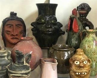 American pottery   Marvin Bailey, Charlie West, Huey and Anne Wheeler, Judy Touchstone, Marie Rogers, Hamlin Jackson, Lanier Meaders.