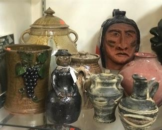 American pottery   Marvin Bailey, Charlie West, Huey and Anne Wheeler, Judy Touchstone, Marie Rogers, Hamlin Jackson, Jessie Meaders.