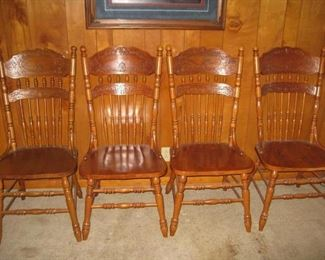 4 oak chairs