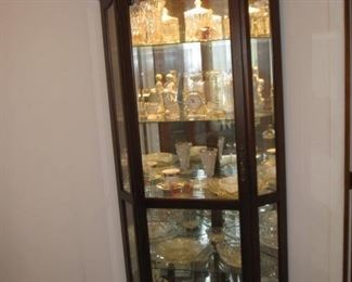 lighted corner cabinet