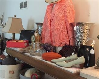 Designer purses and shoes and clothes.