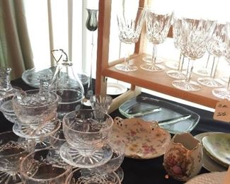 Waterford....bowls and glasses...from the 60's