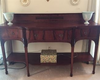 Beautiful English sideboard....Great size....six feet long.    condition is very good.    great in a dining room or hall.