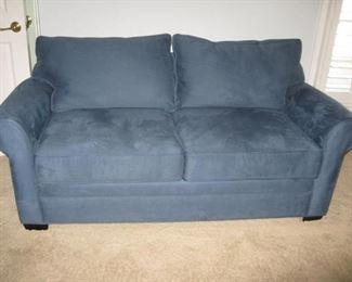 Newer blue microfiber sofa