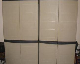 2 of 4 storage cabinets