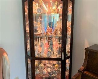 Lovely Lighted Corner Display Cabinet