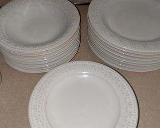 $40   White Gibson dishes