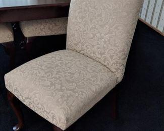 $50 each   Crème Parson chairs