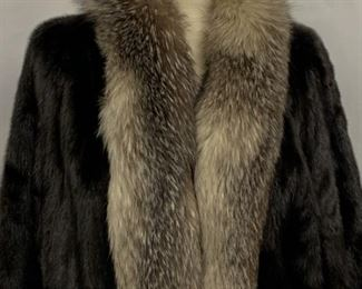 Gorgeous Full Length Mink Coat size L