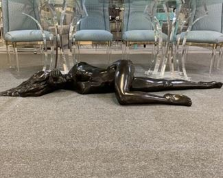 FULL LENGTH BRONZE SIGNED NUDE