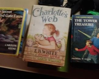 Assorted vintage children's books