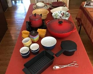Assorted pots, pans and dishes
