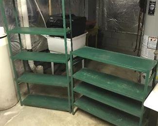 More metal shelving