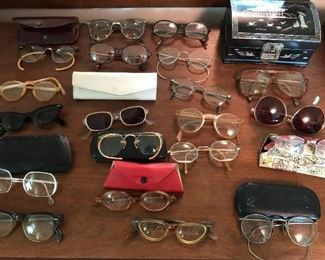 ANTIQUE GLASSES AND SUNGLASSES