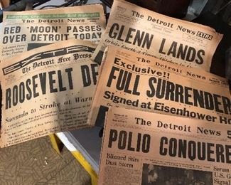ANTIQUE NEWSPAPERS, MAGAZINES