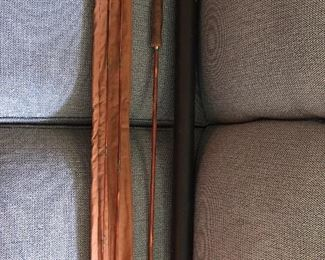 Antique Bamboo Fly Fishing Rod in container