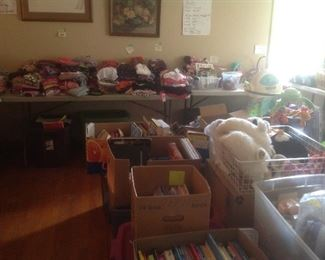 More children's clothes and books