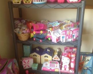 Specialty toys including Miss Kitty.
