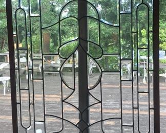 "Leaded glass window - 39"" x 48"""