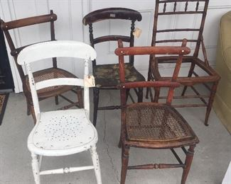 Antique project chairs