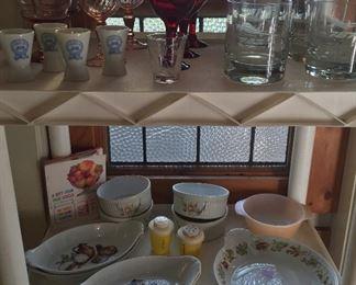 Pillivuyt (France) gratin dishes, Boeing 747 & 767 glasses, Numano sake cups