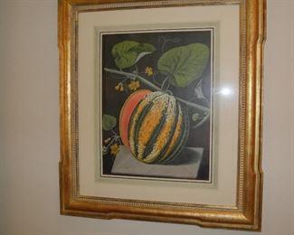 Artwork, gold frame