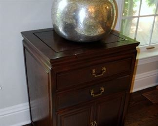 Hammered Silver Lamp and Chest