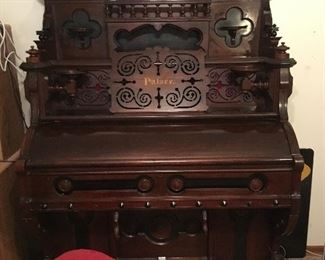 Walnut Pump Organ