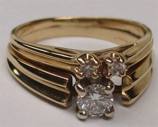 conjoined wedding ring set