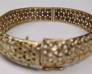 14k gold hinged bangle
