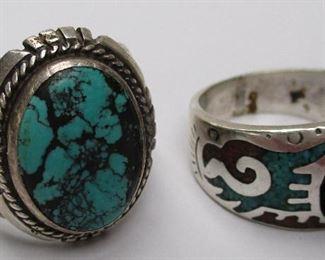 Navajo sterling rings