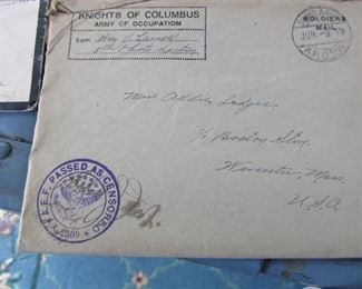 large collection of WWI correspondence