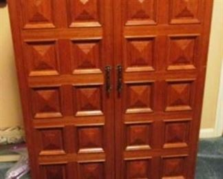 Unusual  cabinet secretary/desk with storage space.  See next picture with cabinet opened.