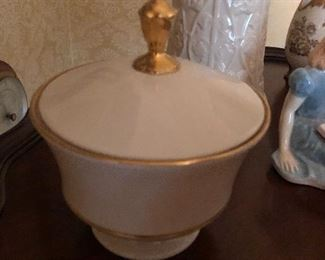 Lenox eternal candy dish with lid