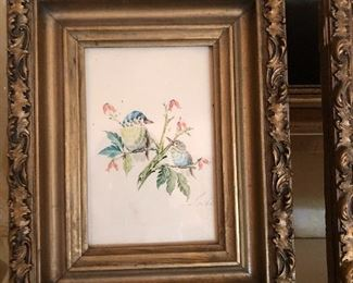 Small antique paintings in Guild frames