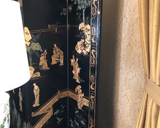 Asian Hand painted screen