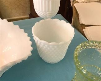 Antique Milk Glass collection