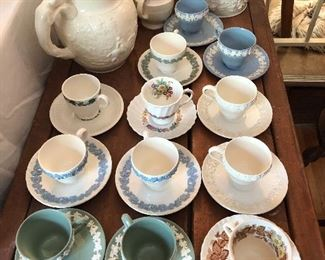 Wedgewood collection of tea cups
