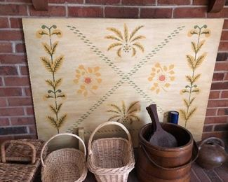 Antique Pennsylvania Dutch/ Amish Fireplace screen
