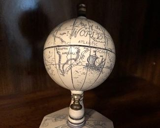 White world globe made in England