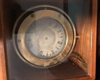 Vintage Coubro and Scrutton London LTD. Marine Ships Compass, London Brass Binnacle
